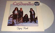 CINDERELLA GYPSY ROAD ORIGINAL WHITE COLORED VINYL LP WITH PATCH