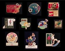 Lot~Set of 10 Soccer Olympic Pin Badge~GREAT COLLECTION!!!~NOS~NEW~Various Years