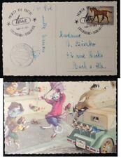 Luxembourg 1961 - postcard postmark Saarbrucken