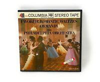 Philadelphia Orchestra Favorite Waltzes 4 Track Reel Tape 7 1/2 IPS W/ Box MQ706