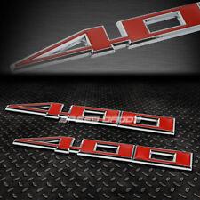 2X METAL BUMPER TRUNK GRILL EMBLEM DECAL STICKER BADGE CHROME/RED SBC 400 6.6