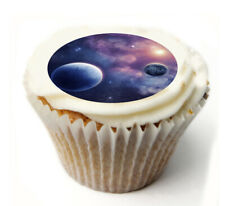 Cupcake Topper SPACE PLANETS personalised Rice, Icing sheet 1024