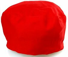 Red Chef Hat - Elastic on Back (One size fits most)