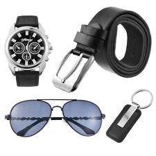 OL Men Business Watch & Sunglasses & Belt &Keychain Gift Set to Father Boyfriend