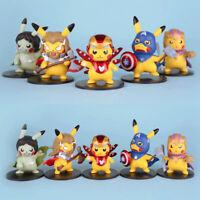 Anime Pokemon Pikachu Cos Avengers Endgame Iron Man Thano Toys Figures Xmas Gift