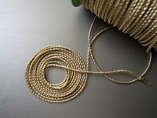 PASSEMENTERIE CORDELIERE FIL OR  mi fin AU METRE, 1 mm LOUIS MATHIEU CD10