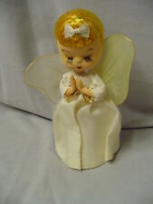 "Christmas Angel, Silk, 7"" Tall, Made In Japan, Vintage"