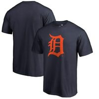 Detroit Tigers D Logo Short Sleeve T -Shirt MLB Baseball Verlander Locker Room !