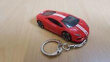 Diecast Lamborghini Huracan LP610-4 Red Toy Car Keyring Keychain RECORDED DEL.