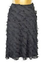 JIGSAW Black 100% silk ruffle skirt, UK 8