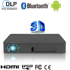 DLP Mini Portable HD Android Projector Home Theatre 1080p Wifi Bluetooth 3D HDMI