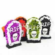 1X Small Halloween Tinsel - Tombstone Decoration Party Deco