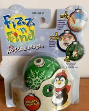 Fizz N Find Magic Holiday Ornaments Green Christmas Collect Them All RARE New
