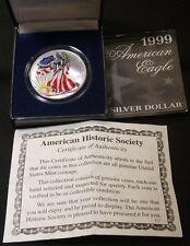 1999~~AMERICAN SILVER EAGLE~~COLORIZED~~NICE BOX
