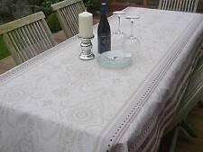 Linge de Table Provence 150x200 Cm Crème Gris en France, Facile sans Repassage