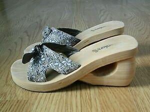 Skechers Cali Spirals Ladies Foam Slider Sandals Beige Floral Size 8 / 41