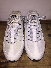 Men's Nike Air Max 95 All White / Black Running Oreo 609048-109 Size 11