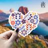 Flower Heart Sticker Vinyl Decal - Car Laptop Wall Macbook Bumper Stickers