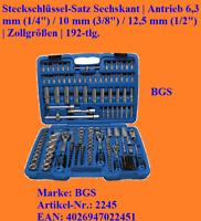 "Steckschlüssel-Satz Sechskant. Antrieb 6,3 mm (1/4"") 10 mm (3/8"") 12,5 mm (1/2"")"
