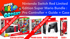 Nintendo Switch Console Super Mario Odyssey  Bundle Pro Controller, Guide, Case+