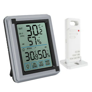 100m Indoor Outdoor Digital Room_LCD Thermometer Hygrometer Temperature Humidity