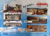 Märklin 5442 Spur 1 Safari Zug Dampflok Waggon wie neu OVP