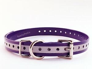 3/4 inch Reflective Dog Collar Strap Dogtra, Garmin  E Collar by Sparky Pet Co