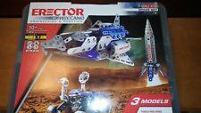 Erector 18214 Space Set Meccano 3 Models Metal 472 Parts NIB