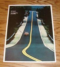 Original 1973 Volkswagen VW Type 3 Foldout Sales Brochure 73