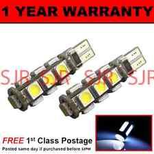 W5W T10 501 Canbus Libre De Errores Blanco 13 BOMBILLAS LED para matrícula 2X