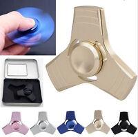 Metal Tri Fidget Hand Spinner Ceramic Bearing Desk Focus EDC Finger Gyro