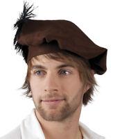 Chapeau coiffe béret médiéval moyen age florentin renaissance déguisement adulte
