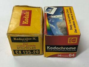 F02_013a 2 Rolls Kodak Film CX135 Kodacolor X, Kodachrome 64