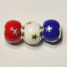 Brighton Celebration Star Bead Patriotic Stars Beads Set Red White Blue America