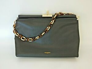 Kassandre Paris 100% Leather Black Clutch Bag with Gold Trim BNWOT