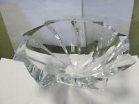 "BACCARAT FRANCE OBJECTIF CHOICE SWIRL CLEAR CRYSTAL BOWL 10"" W XLNT COND"