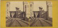 Colonia Pont Da Ferro Prussia Germania Foto Stereo Vintage Albumina Ca 1865
