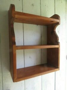 Small Solid  Pine Wall Mounted Shelf.