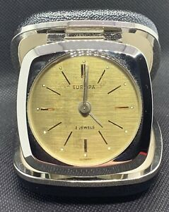 Europa 2 Jewel Travel Alarm Clock, Made İn Germany, New Old Stock
