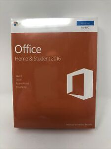 Microsoft Office Home & Student 2016 Win English Eurozone For 1 PC Key Card New