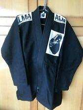 Made in Japan Alma Ju1-A0-Bk black Ibjjf legal Bjj jiu jitsu gi kimono