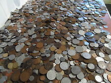 100 coins British and World Coins 100 COIN bulk lot