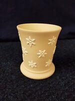 Wedgwood Taupe Jasperware Vase with White Basalt Snowflake Design
