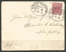GERMANY. 1896. COVER. RAILWAY POSTMARK. GERNRODE TO HASSELFELDE ZUG 11. OTTWELER