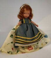 """Vintage Nancy Ann Storybook Doll """"Jennie Set the Table"""" # 161 Stand Included!"""