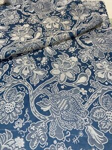 2 Standard Pillow Shams MARTHA STEWART Blue On Blue Floral Embroidered
