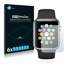 6x Displayschutzfolie Apple Watch Series 1 (42mm) Schutzfolie Klar Folie