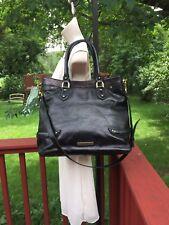 Beautiful & Elegant Cole Haan Black Leather Large Tote Satchel Handbag