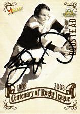 2008 NRL CENTENARY OF RUGBY LEAGUE SIGNATURE TRADING CARD - KERRY BOUSTEAD