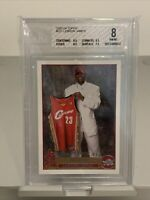 2003-04 Topps #221 Lebron James Lakers Cavs Rookie RC BGS 8 NM-MT
